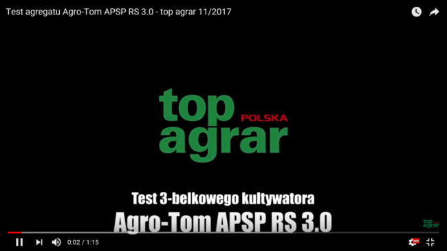 Test agregatu Agro-Tom - TOP AGRAR